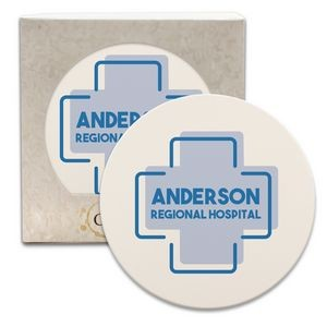 "CoasterStone Round Absorbent Stone Coaster - Single (4 1/4"")"
