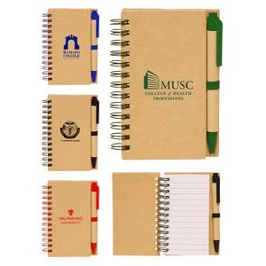 Eco Spiral Notebook w/Pen