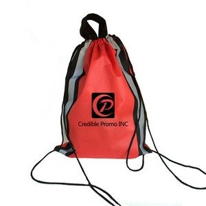 Custom Non-woven Reflective Drawstring Backpack.