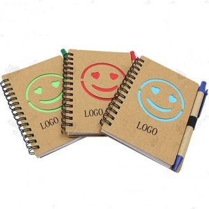 Recycled Jotter Notepad with Recycled Paper Pen